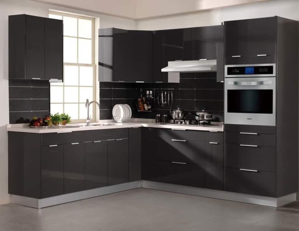 custom black frameless european kitchen cabinets in phoenix