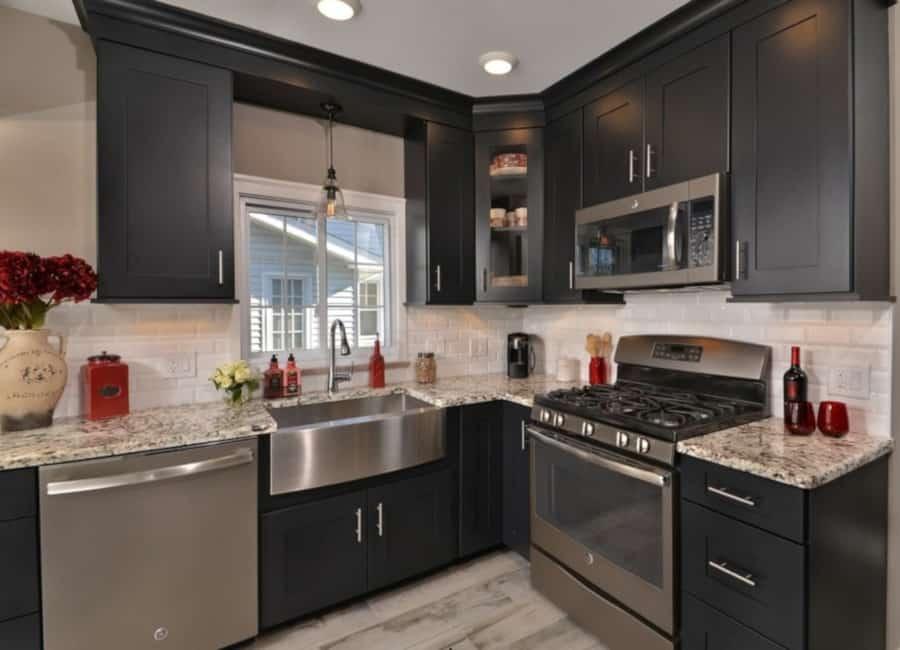 custom dark kitchen remodel in phoenix