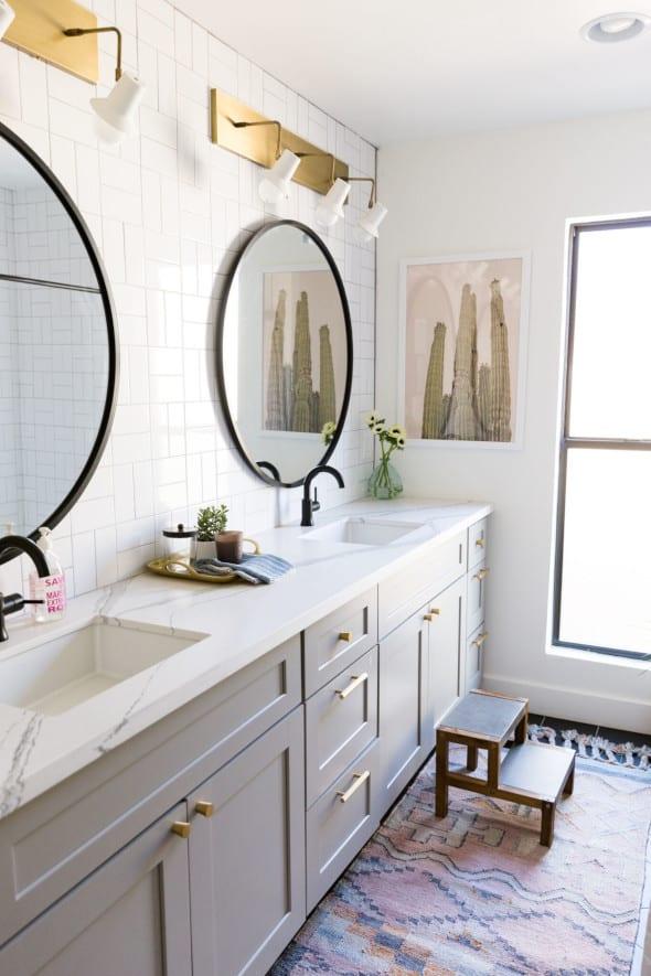 gray bathroom cabinets in phoenix