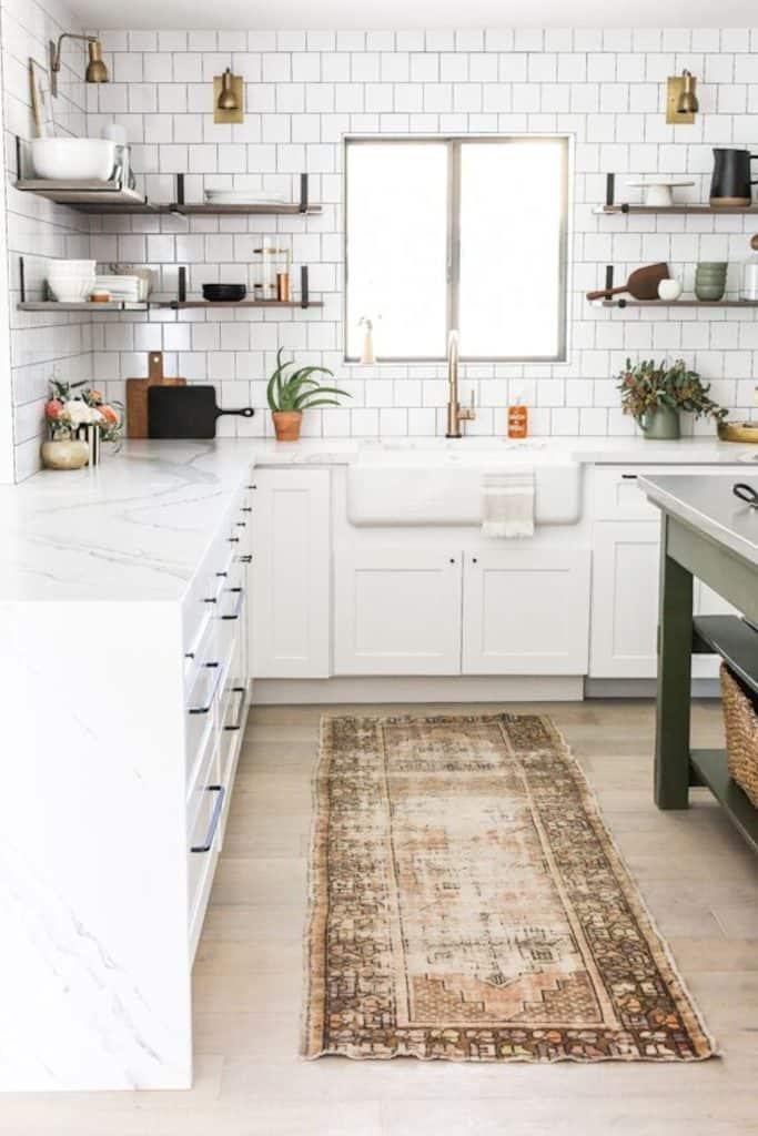 white shaker custom kitchen remodel