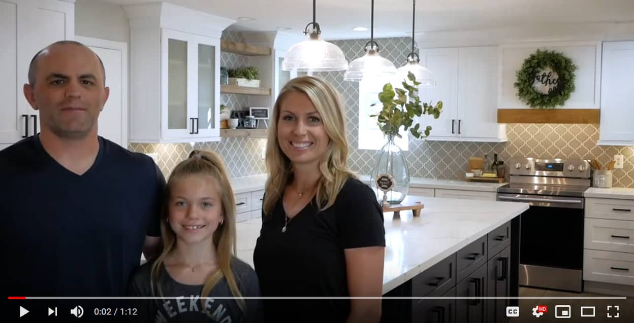Family with new Kitchen cabinets phoenix az