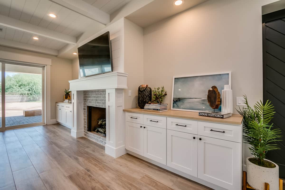 Living room cabinets white